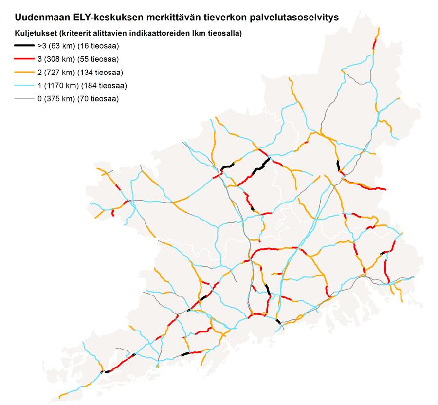 Uudenmaan ELY-keskuksen merkittävän tieverkon palvelutasoselvitys
